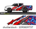 truck wrap design vector.... | Shutterstock .eps vector #1090839737