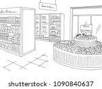 grocery store graphic shop... | Shutterstock .eps vector #1090840637