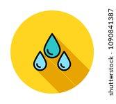 water rain drops  | Shutterstock .eps vector #1090841387