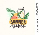 composition with summer vibes... | Shutterstock .eps vector #1090843271