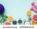 food for fitness  healthy... | Shutterstock . vector #1090843649