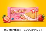 strawberry ice cream sandwich... | Shutterstock .eps vector #1090844774