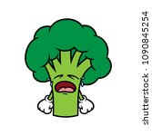 cartoon crying broccoli... | Shutterstock .eps vector #1090845254