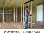 interior of empty unfinished... | Shutterstock . vector #1090847681