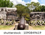 cannon at fort san pedro in...   Shutterstock . vector #1090849619