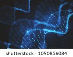 abstract glowing blurry blue... | Shutterstock . vector #1090856084