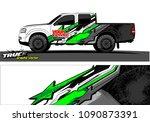 truck wrap design vector.... | Shutterstock .eps vector #1090873391