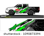 truck wrap design vector.... | Shutterstock .eps vector #1090873394