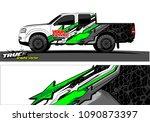 truck wrap design vector.... | Shutterstock .eps vector #1090873397