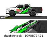truck wrap design vector.... | Shutterstock .eps vector #1090873421