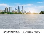 prospects for the empty square... | Shutterstock . vector #1090877597