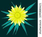 creative flower stylization....   Shutterstock .eps vector #1090880621