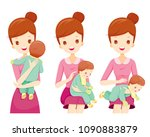 burping methods for baby after... | Shutterstock .eps vector #1090883879