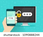 two step authentication on... | Shutterstock .eps vector #1090888244