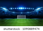 football arena field with... | Shutterstock .eps vector #1090889474