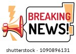 breaking news   sign with... | Shutterstock .eps vector #1090896131