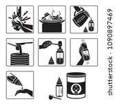 icons set of steps to preparing ... | Shutterstock .eps vector #1090897469