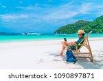 asian business man in summer... | Shutterstock . vector #1090897871