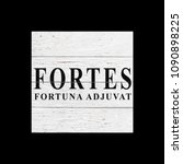 sign fortes fortuna adjuvat  ... | Shutterstock . vector #1090898225