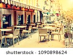 beautiful cafe terrace in a...   Shutterstock . vector #1090898624