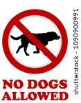 no dog allowed sign | Shutterstock . vector #1090900991