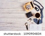 father's day composition with ...   Shutterstock . vector #1090904834