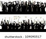 happy people silhouette | Shutterstock .eps vector #109090517