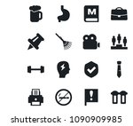 set of vector isolated black... | Shutterstock .eps vector #1090909985