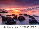 Colorful Sunset On The Sea In...