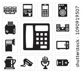 set of 13 simple editable icons ... | Shutterstock .eps vector #1090919507