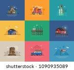 abstract seaside coast...   Shutterstock .eps vector #1090935089