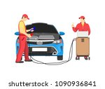 car repair service abstract... | Shutterstock .eps vector #1090936841