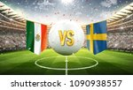 mexico vs sweden. soccer... | Shutterstock . vector #1090938557