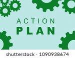 action plan sign concept... | Shutterstock . vector #1090938674