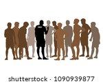 coaching soccer sport | Shutterstock .eps vector #1090939877