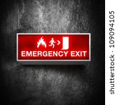 Fire Emergency Exit Sign On A...