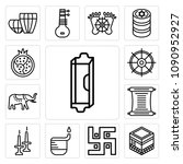set of 13 simple editable icons ... | Shutterstock .eps vector #1090952927