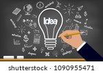 creative idea on light bulb and ...   Shutterstock .eps vector #1090955471