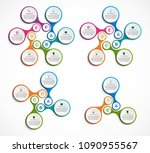 collection infographics. design ... | Shutterstock .eps vector #1090955567