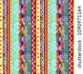 ethnic boho seamless pattern.... | Shutterstock .eps vector #1090971164