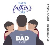 happy fathers day greeting card ... | Shutterstock .eps vector #1090971521