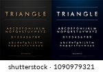 alphabet font from triangle... | Shutterstock .eps vector #1090979321