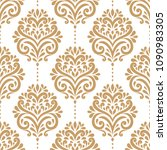 golden vintage vector seamless... | Shutterstock .eps vector #1090983305
