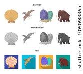 prehistoric shell  dinosaur... | Shutterstock .eps vector #1090983365