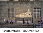Small photo of Turin, Piedmont, Italy. May 12 2018. Piazza CLN, the fountain statue depicting the river Dora Riparia. Tourists.