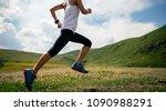 young fitness woman runner... | Shutterstock . vector #1090988291