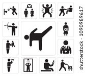 set of 13 simple editable icons ... | Shutterstock .eps vector #1090989617