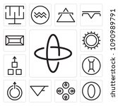 set of 13 simple editable icons ... | Shutterstock .eps vector #1090989791