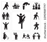 set of 13 simple editable icons ... | Shutterstock .eps vector #1090989797