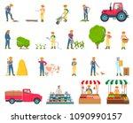 farmer activity collection ...   Shutterstock .eps vector #1090990157